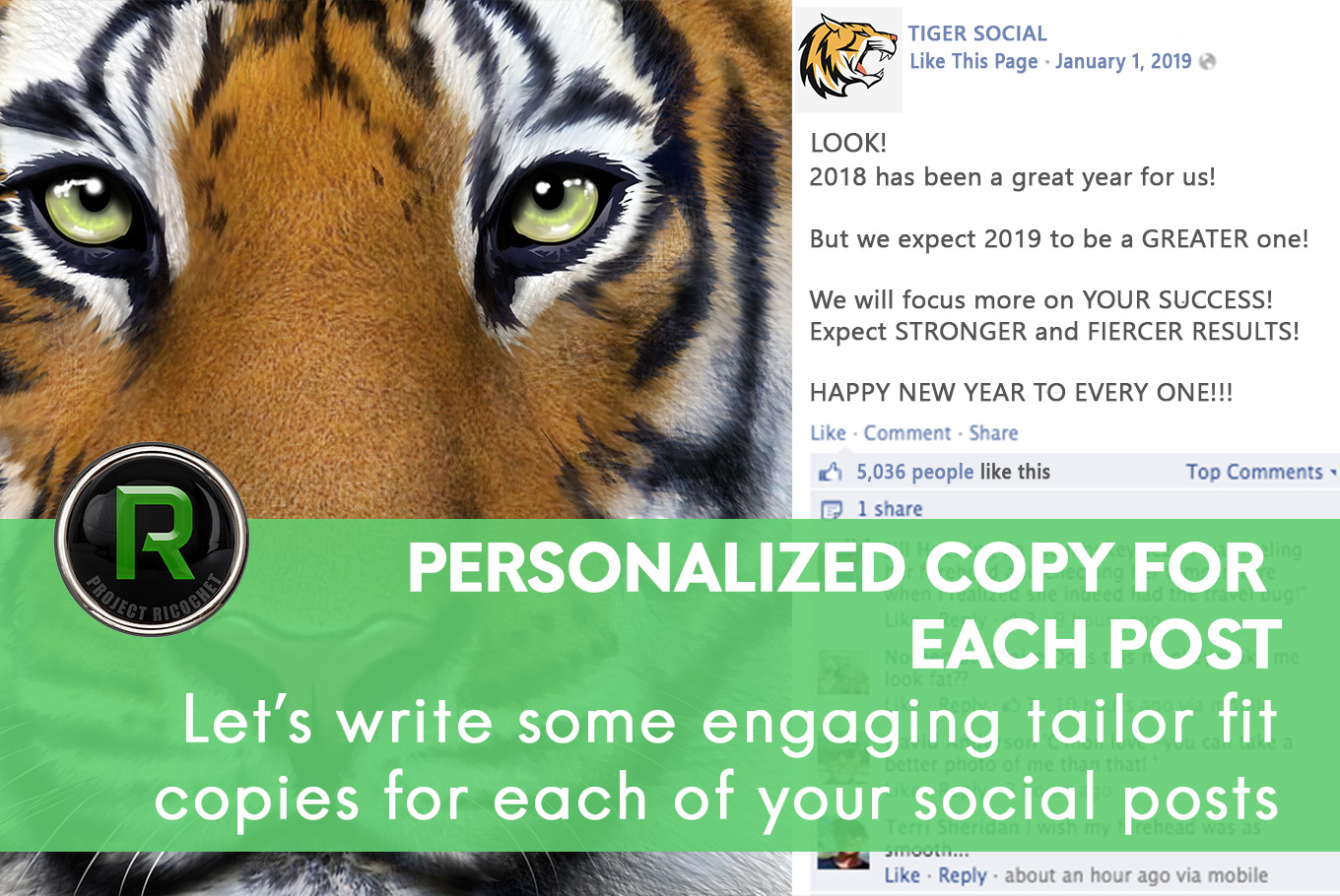 Social media solution - Personalized copies