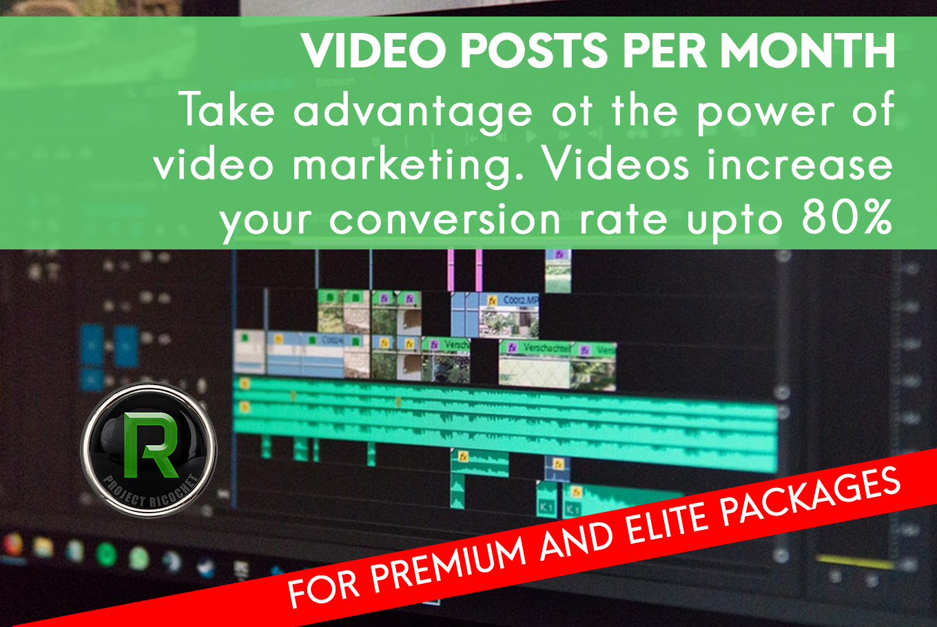 Social media solution - Video Posts per month