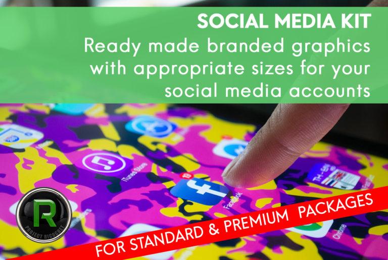 brand identity social media kit
