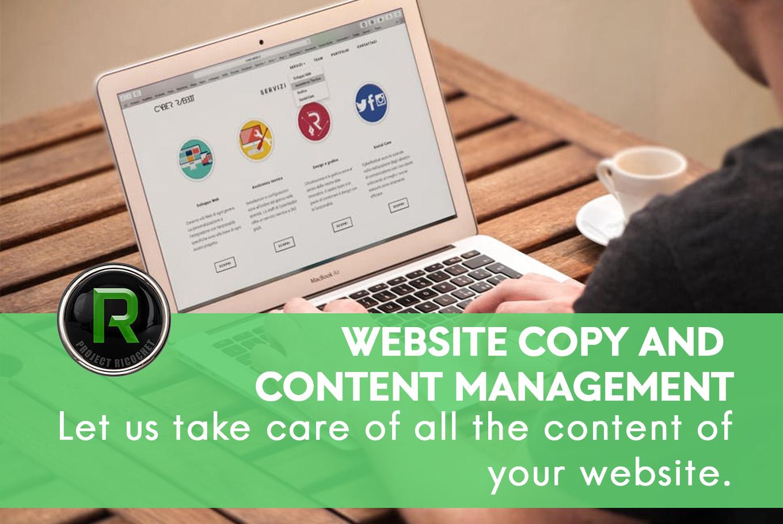 wordpress design - web copy and content